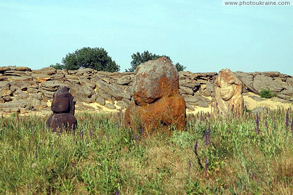 Terpinnia. Scythian women at foot of Stone Grave Zaporizhzhia Region Ukraine photos