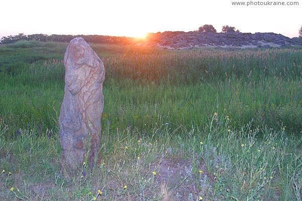 Terpinnia. First rays of sun over stone graves Zaporizhzhia Region Ukraine photos