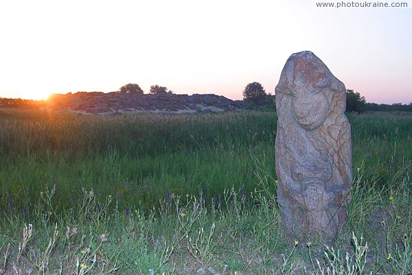 Terpinnia. Dawn of stone graves Zaporizhzhia Region Ukraine photos