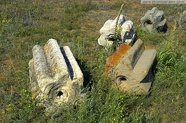 Terpinnia. Ancient millstones Zaporizhzhia Region Ukraine photos