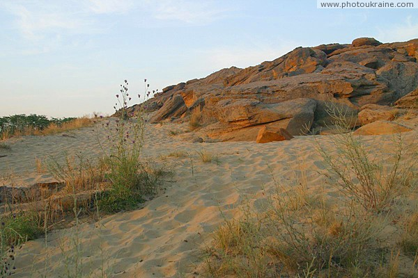 Terpinnia. Patch of rocky desert steppe Zaporizhzhia Region Ukraine photos