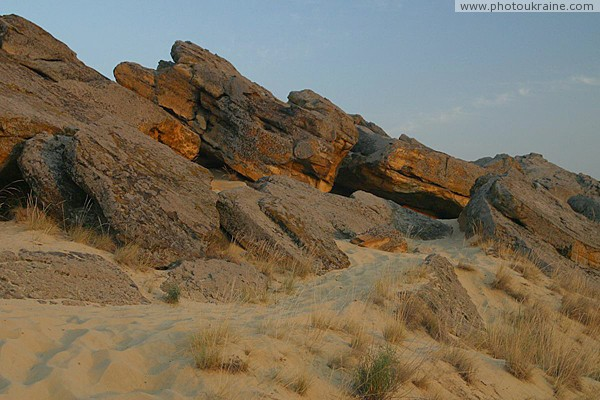 Terpinnia. Sands and sandstones of Sarmatian Sea Zaporizhzhia Region Ukraine photos