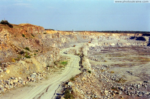 Trudove. Departure from granite quarry Zaporizhzhia Region Ukraine photos
