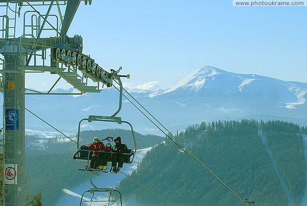 Bukovel. 4-chair lift and Mount Hoverla Ivano-Frankivsk Region Ukraine photos