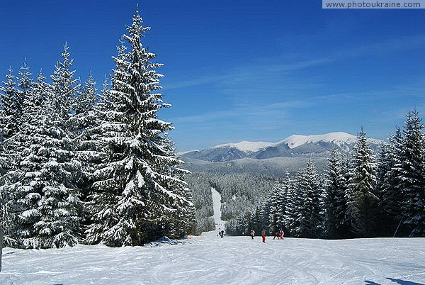 Bukovel. At the ski station for beginners Ivano-Frankivsk Region Ukraine photos
