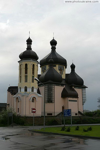 Burshtyn. The Modern Church of All Saints and the bell tower Ivano-Frankivsk Region Ukraine photos