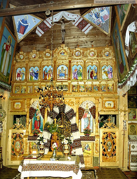 Vorokhta. The iconostasis of the Church of Peter and Paul Ivano-Frankivsk Region Ukraine photos