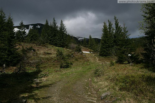 Carpathian NNP. Mountain Trail Ivano-Frankivsk Region Ukraine photos