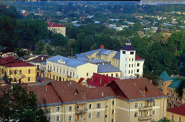 Kosiv. View of the building of Museum and Tax from the Kosiv mountain Ivano-Frankivsk Region Ukraine photos