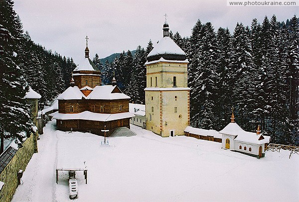 Maniavsky monastery. Panorama of the skete from the gate tower Ivano-Frankivsk Region Ukraine photos