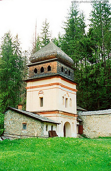 Maniavsky monastery. Gate entrance tower bell tower Ivano-Frankivsk Region Ukraine photos