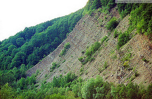 Nadvirna. Exposure of Paleogene Sediments Ivano-Frankivsk Region Ukraine photos