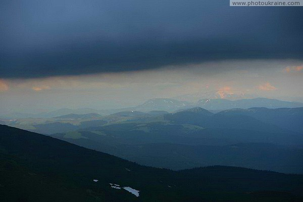 Chornohora. Endless mountain distance Ivano-Frankivsk Region Ukraine photos