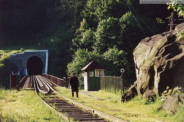 Yaremche. Guarded railway tunnel Ivano-Frankivsk Region Ukraine photos