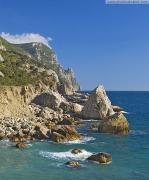 Cape Aya – start Main Ridge of Crimean mountains, Autonomous Republic of Crimea, Geological sightseeing