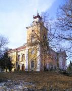 Verhivka. Highest square tower of palace, Vinnytsia Region, Country Estates