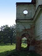 Snizhna. Remains front portico manor house, Vinnytsia Region, Country Estates