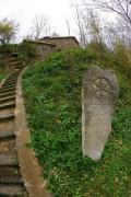 Busha. Stairs leading to pavilion cave temple, Vinnytsia Region, Museums