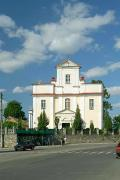 Khmilnyk. Front facade of Catholic church, Vinnytsia Region, Churches