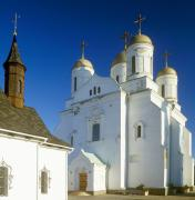 Zymne. Front facade of Assumption cathedral, Volyn Region, Monasteries