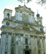 Olyka. Once-elegant facade of ceremonial Trinity church, Volyn Region, Churches