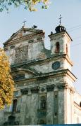 Olyka. Detail of front facade of Trinity church, Volyn Region, Churches