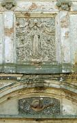 Olyka. Detail of front facade decor Trinity church, Volyn Region, Churches
