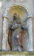 Olyka. Another sculpture in niche front facade of Trinity church, Volyn Region, Churches