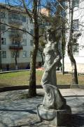 Lutsk. Sculpture in city center, Volyn Region, Monuments