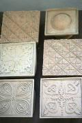 Lutsk. Lutsk castle, museum brick tile patterns, Volyn Region, Museums