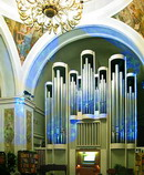 Dnipropetrovsk. Fragment of interior of organ hall, Dnipropetrovsk Region, Cities