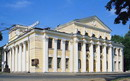 Dnipropetrovsk. Parade facades of Russian Drama Theater, Dnipropetrovsk Region, Civic Architecture