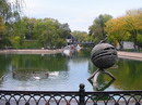 Dnipropetrovsk. Pond in park of L. Globa, Dnipropetrovsk Region, Cities
