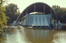 Dnipropetrovsk. Summer Theater in pond, Dnipropetrovsk Region, Cities