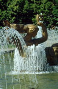 Dnipropetrovsk. Theatrical muse in fountain, Dnipropetrovsk Region, Cities