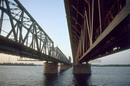 Dnipropetrovsk. Under lines of Amur bridge, Dnipropetrovsk Region, Cities