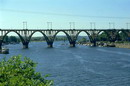 Dnipropetrovsk. Graceful Merefa-Kherson railway bridge, Dnipropetrovsk Region, Cities