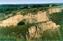 Stari Kodaky. Famous outcrop of anthropogenic sediments, Dnipropetrovsk Region, Geological sightseeing