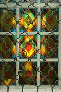 Kytayhorod. Slatted stained glass of Holy Assumption Church, Dnipropetrovsk Region, Churches
