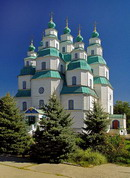 Novomoskovsk. Trinity Cathedral – largest wooden building of country, Dnipropetrovsk Region, Cities