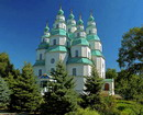 Novomoskovsk. Green decoration of Trinity Cathedral, Dnipropetrovsk Region, Churches