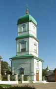 Novomoskovsk. Three-tiered bell tower of Trinity Cathedral, Dnipropetrovsk Region, Churches
