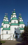 Novomoskovsk. Parade facades of Trinity Cathedral, Dnipropetrovsk Region, Churches