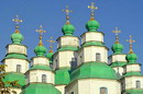 Novomoskovsk. Domes of Trinity Cathedral, Dnipropetrovsk Region, Churches