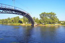 Novomoskovsk. Pedestrian bridge over river Samara, Dnipropetrovsk Region, Cities