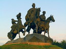 Zhovti Vody. Bronze Cossack's elders, Dnipropetrovsk Region, Monuments
