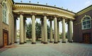 Kryvyi Rih. Inner courtyard and colonnade of Metallurgists palace, Dnipropetrovsk Region, Civic Architecture