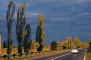 Road at sunset, Dnipropetrovsk Region, Roads