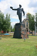 Donetsk. Monument at Miner's square, Donetsk Region, Monuments