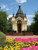Donetsk. Chapel of St. Barbara in bloom, Donetsk Region, Churches